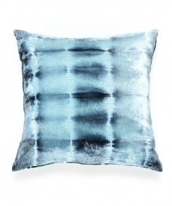 Blue Velvet Tie-Dye Pillow
