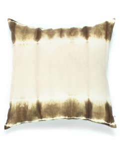 Moss Green Linen Tie-Dye Pillow
