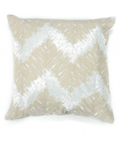 Shimmering Silver Chevron Pillow