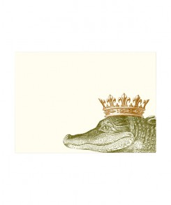 Royal Alligator Horizontal Notecards