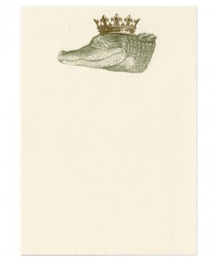 Royal Alligator Vertical Notecards