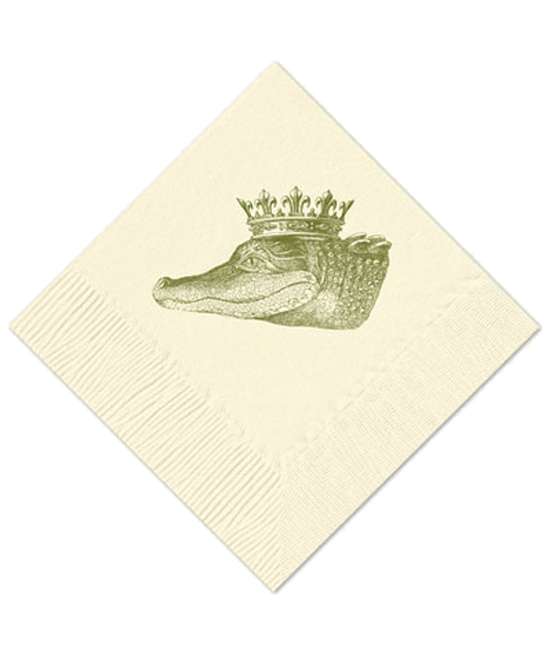 Royal Alligator Cocktail Napkins