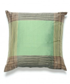 Green Striped Thai Silk Pillow