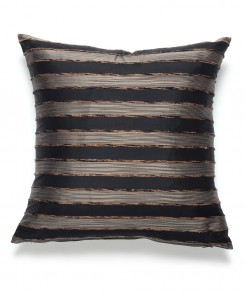 Ebony Thai Silk Striped Pillow