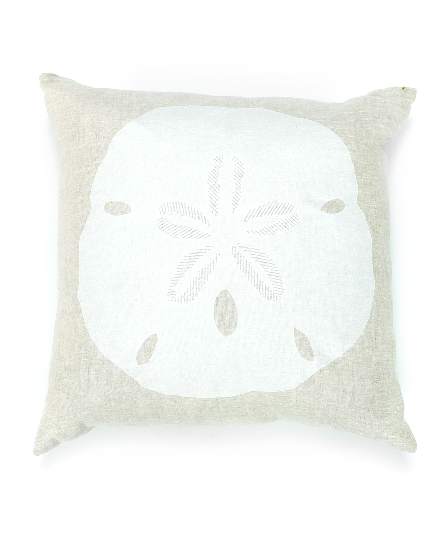 Linen Sand Dollar Pillow