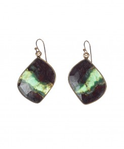 Dark Chrysoprase Earrings