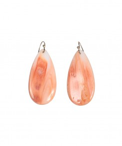Spiny Oyster Teardrop Earrings