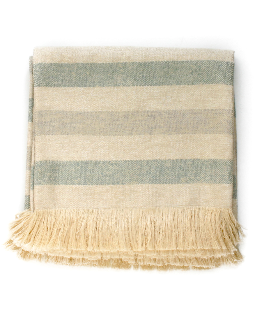 Sunbrella Mist Striped Throw