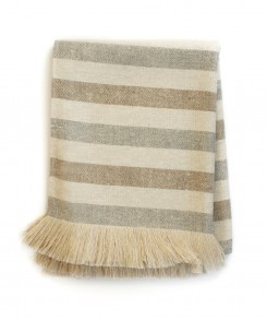 6557-208_Sunbrella_Tan_Striped_Throw