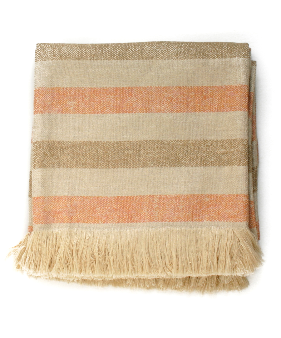 Sunbrella Blush Striped Throw