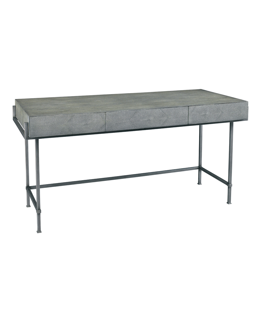 Charcoal Simone Shagreen Desk