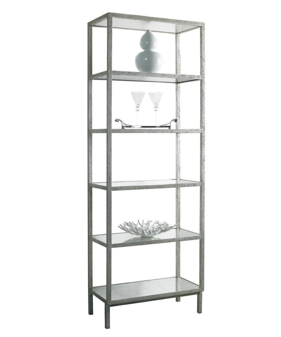 Silver Pickford Slim Bookcase