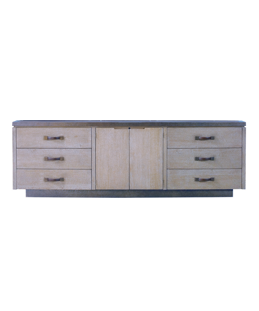 Weathered Wood Cole Cabinet