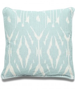 Sky Blue Ikat Pillow