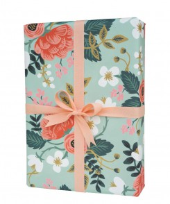 Blue Floral Wrapping Sheets
