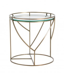 Brass Deco Side Table