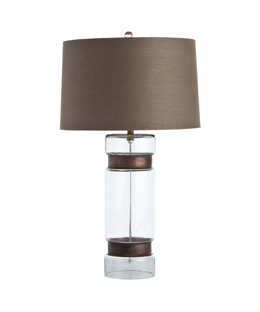 Glass cylinder table lamp kurtz collection glass cylinder table lamp mozeypictures Choice Image