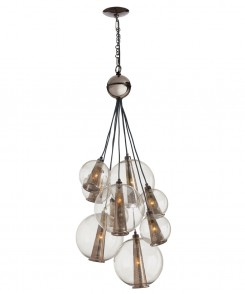 Smoked Glass Cluster Chandelier