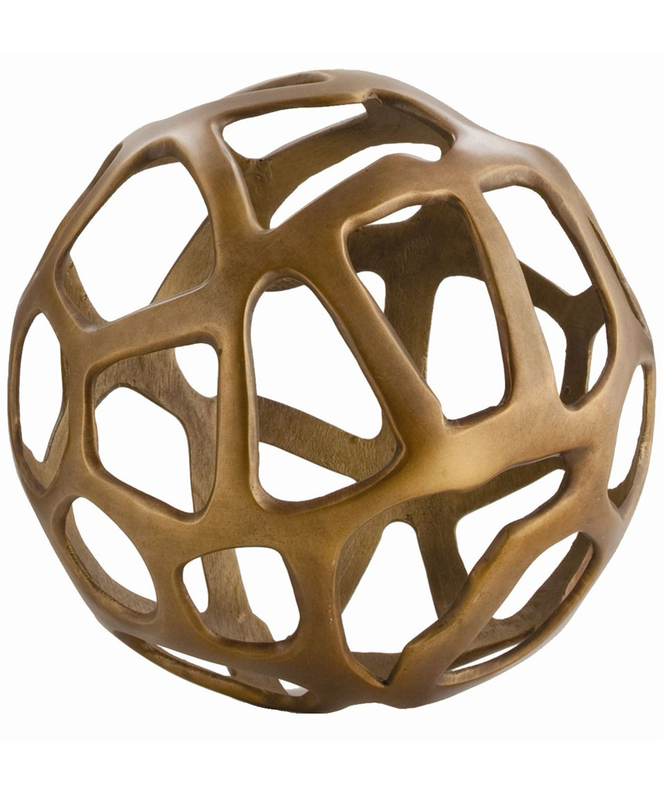 Brass Sphere Sculpture