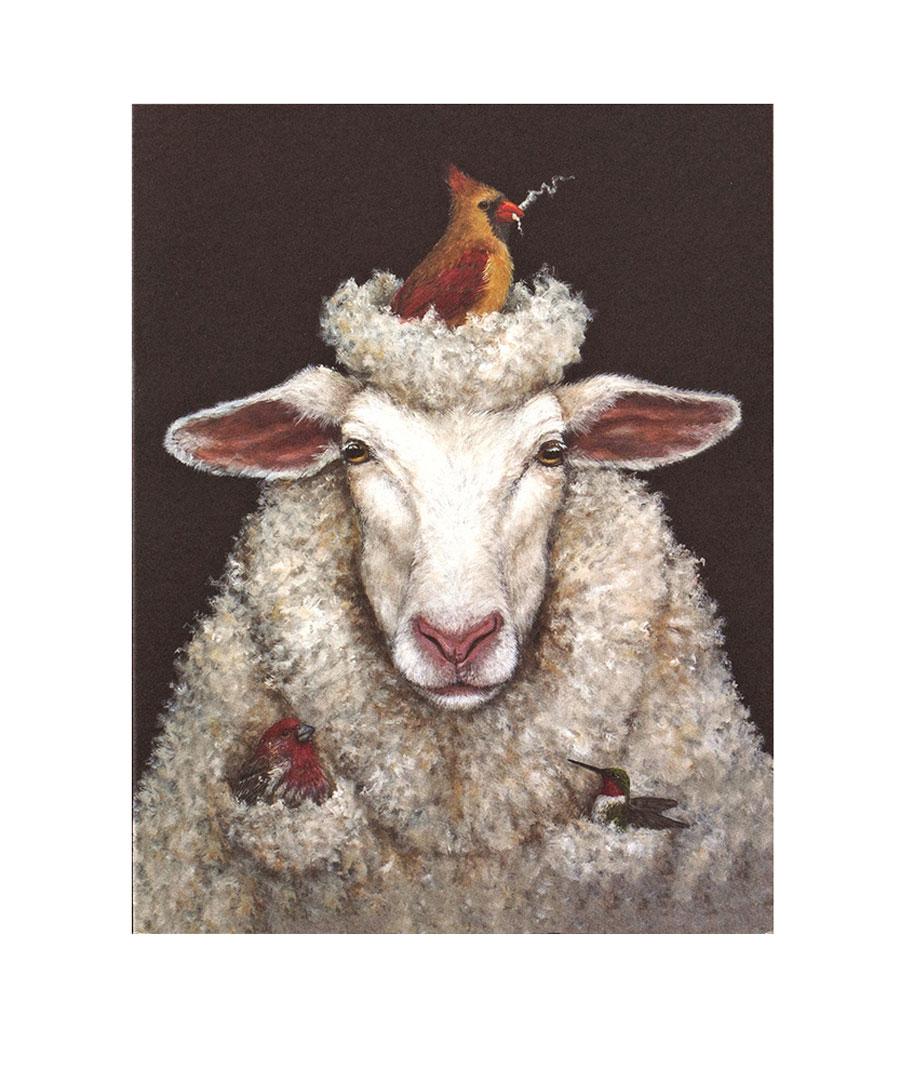 Lamb Get Well Soon Card