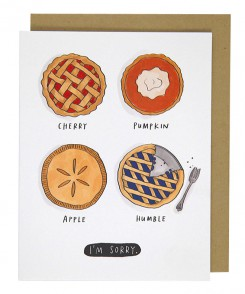 Humble Pie Apology Card