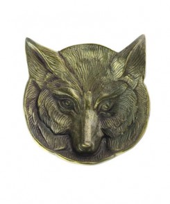 Cast Metal Fox Dish