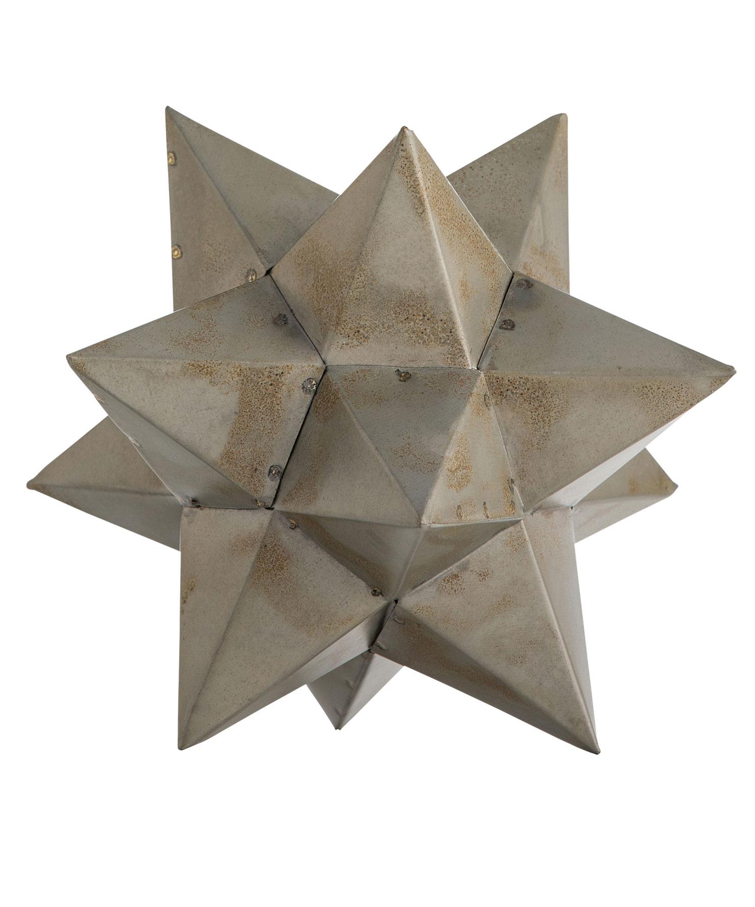 Zinc Star Sculpture