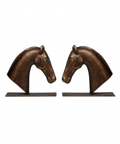 Bookends Cast Iron S/2