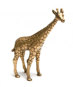 Brass Giraffe Sculpture