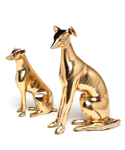 Brass Greyhound Sculpture Small