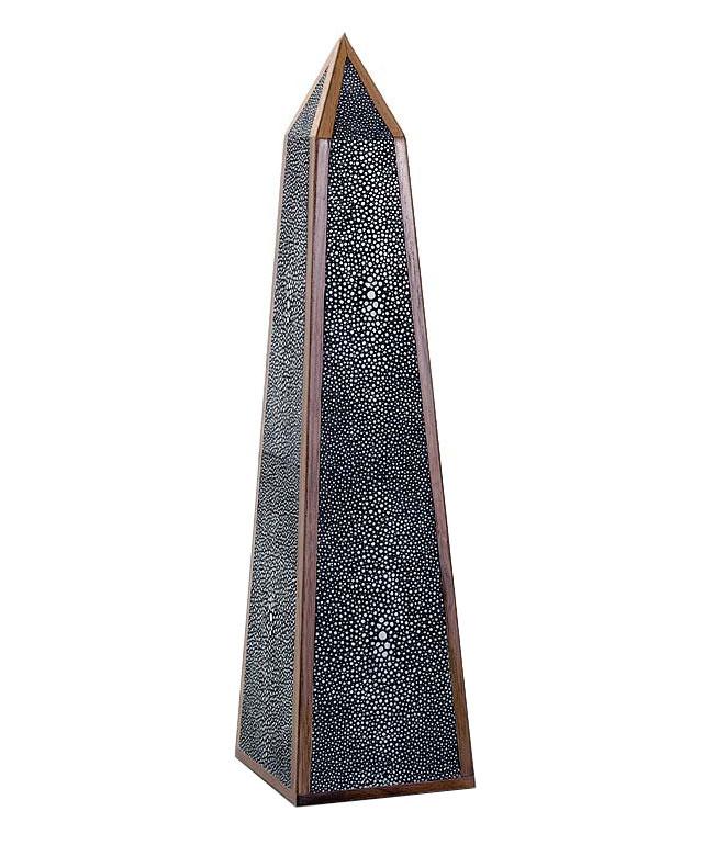 Faux Shagreen Obelisk