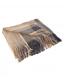 Silver and Gold Knit Throw