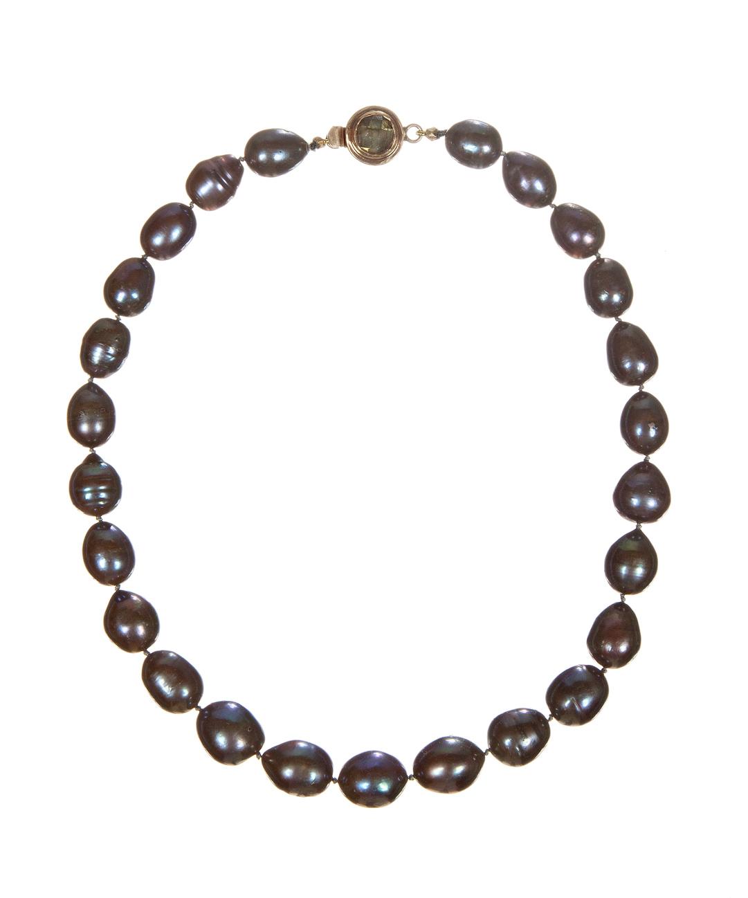 Black Pearl and Labradorite Necklace