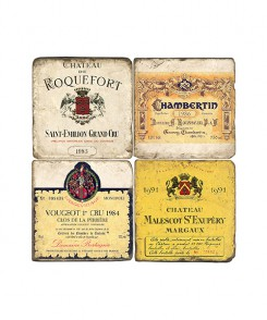 French Wine Coaster Set