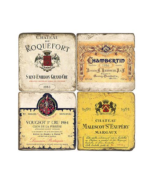 French Wine Coaster Set
