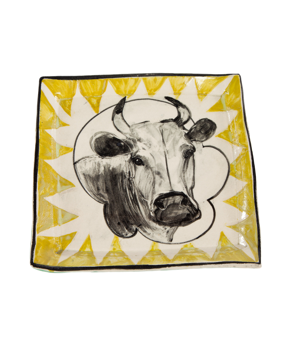 Artisan Cow Plate