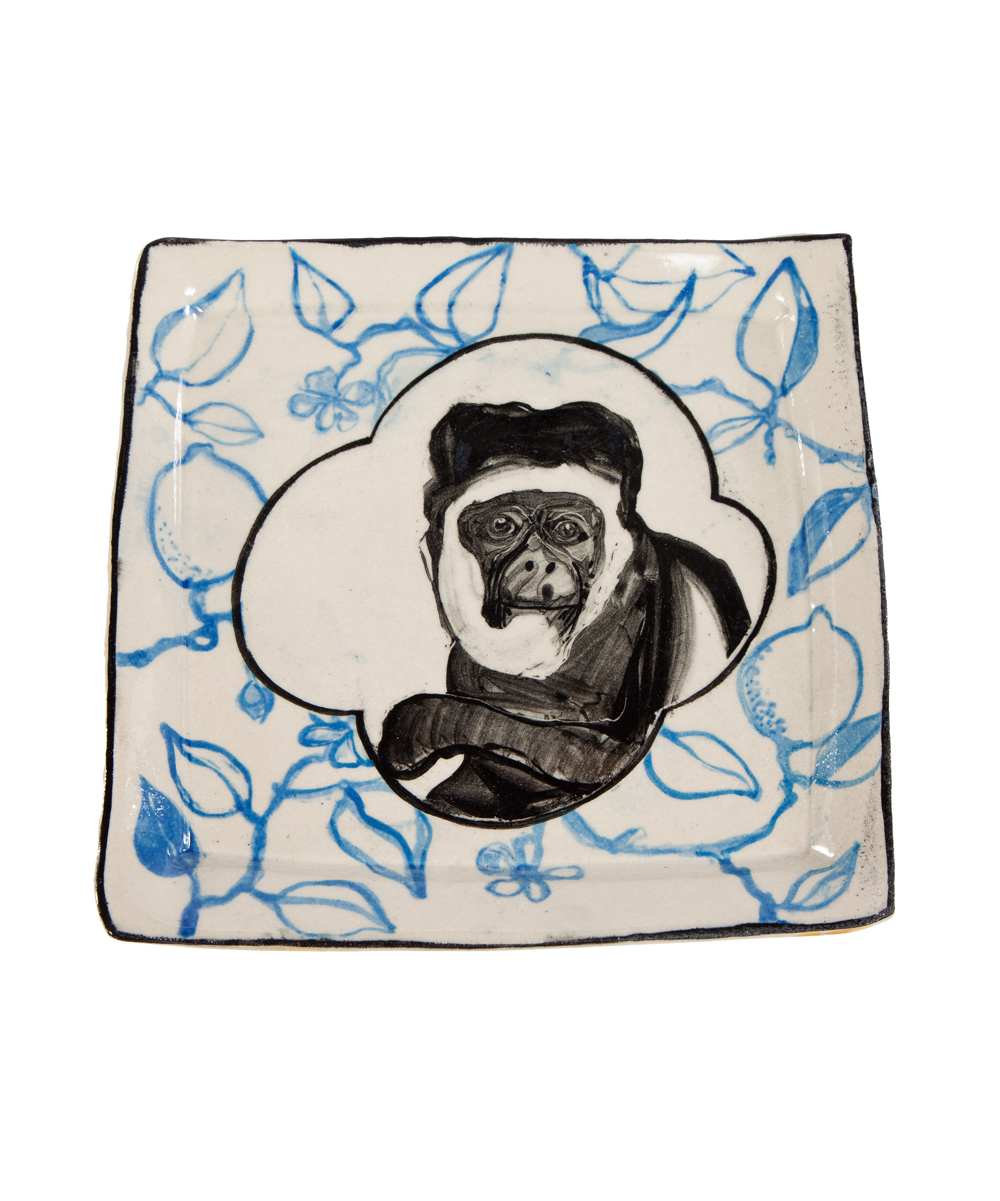 Artisan Monkey Plate