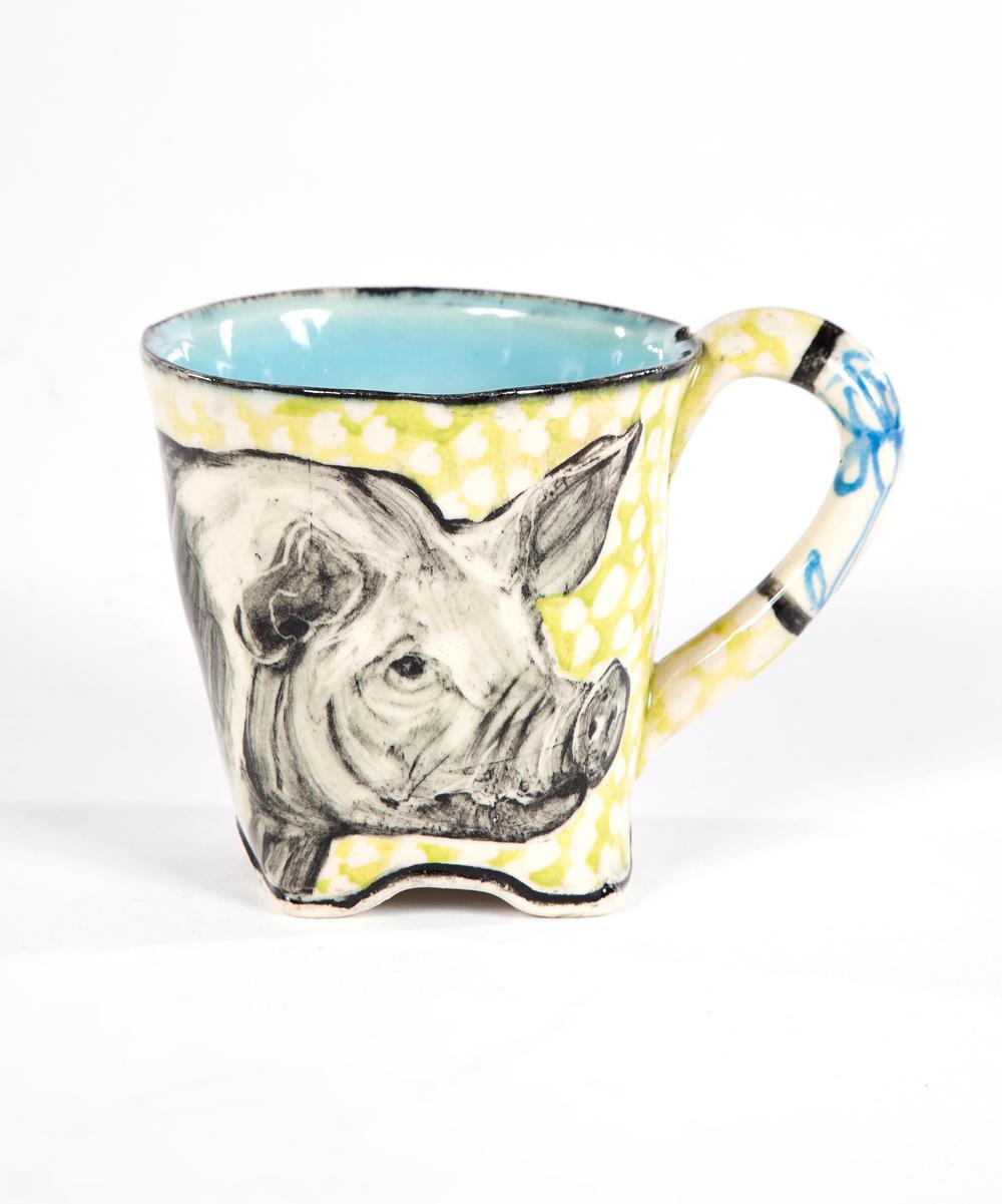 Artisan Pig Mug