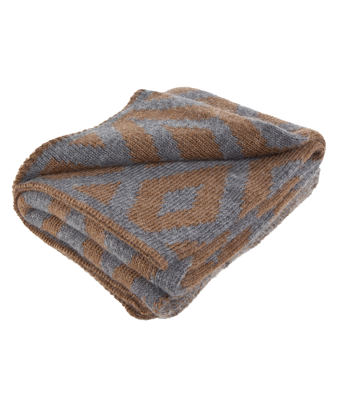 Diamond Pattern Mohair Throw