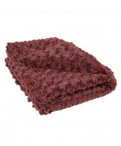 Burgundy Rose Petal Throw
