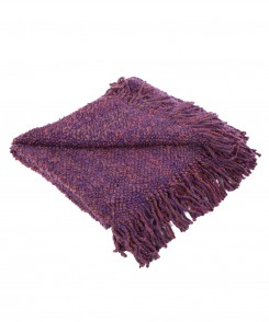 Eggplant Knit Throw