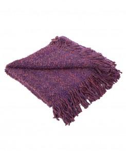 Eggplant Knit Throw