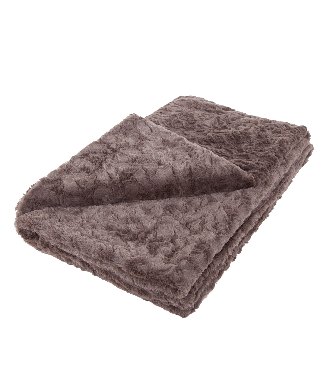 Slate Grey Faux Fur Throw
