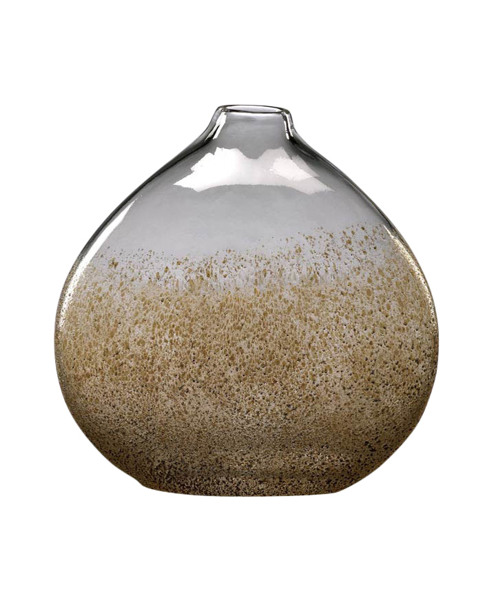 Gold Flecked Glass Vase