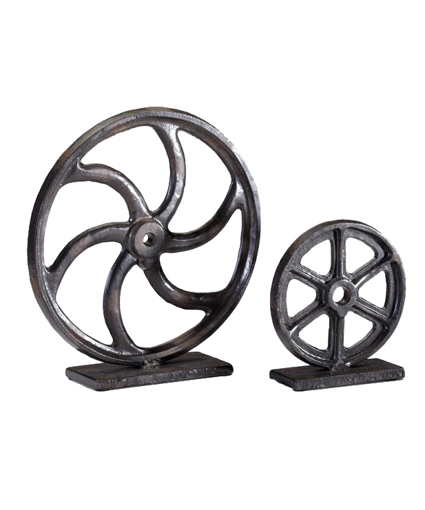 Small Bronze Gear Sculpture
