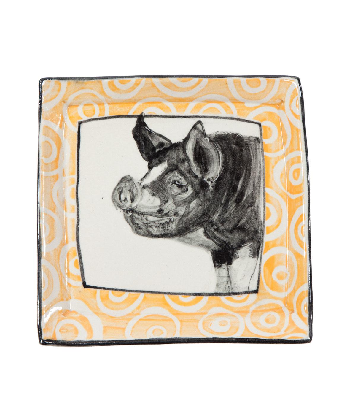 Artisan Pig Plate