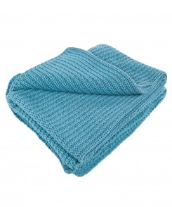 Cerulean Cotton Throw