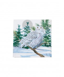 Snow Owl Cocktail Napkins