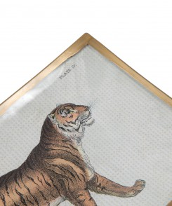 Decoupage Tiger Plate