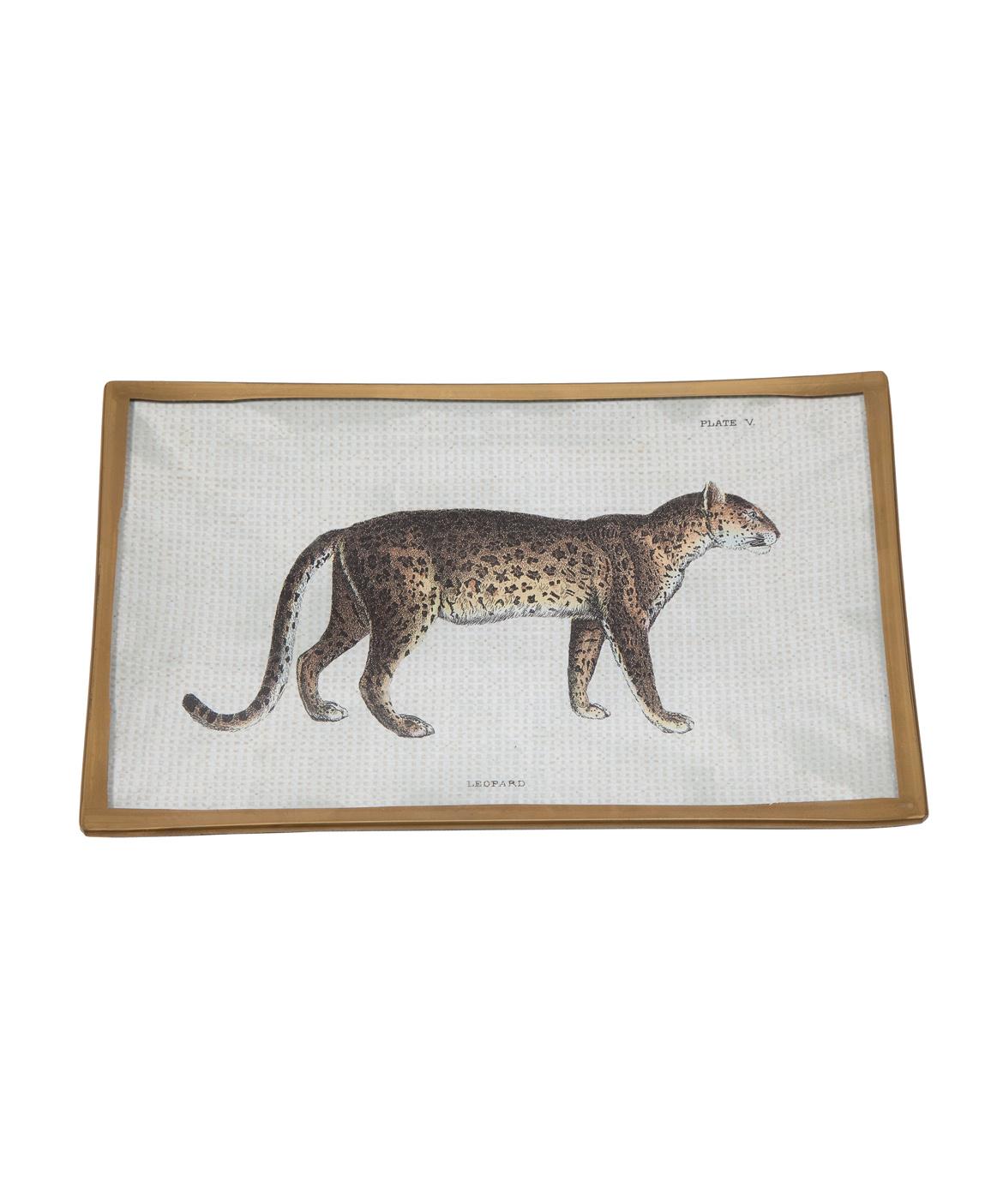 Decoupage Leopard Plate